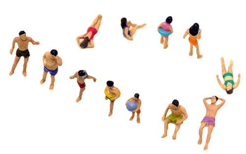 ザ・人間118 海水浴の人々(再販)[トミーテック]《在庫切れ》