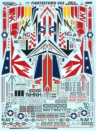 1/48 F-14A ファイタータウンUSAパート2 CAGS デカール(再販)[ファイタータウンデカール]《取り寄せ※暫定》
