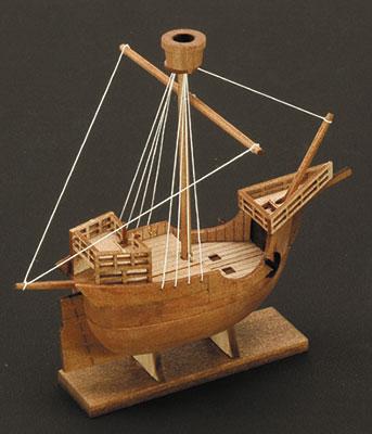 木製模型 ボトルシップ No.3 カタロニア船 組立キット[ウッディジョー]《在庫切れ》