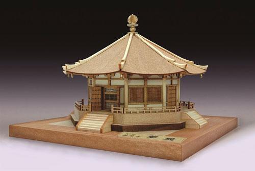 木製模型 1/150 法隆寺 夢殿[ウッディジョー]《在庫切れ》
