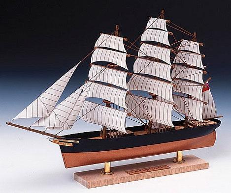木製模型 ミニ帆船 No.1 カティサーク[ウッディジョー]《在庫切れ》