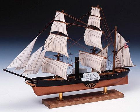 木製模型 ミニ帆船 No.3 黒船[ウッディジョー]《在庫切れ》