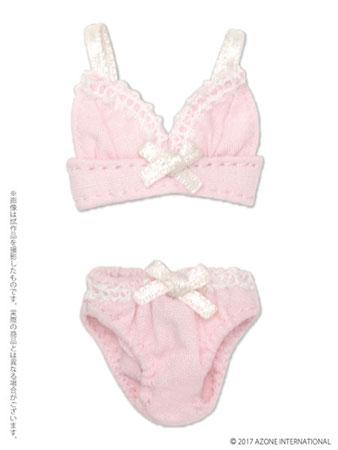 ピコニーモサイズ 1/12 リボンブラ&ショーツセット ピンク (ドール用衣装)[アゾン]《在庫切れ》