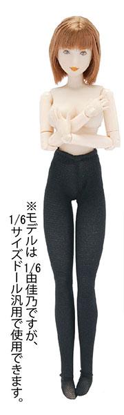1/6 厚手タイツ(黒)(ドール用)(再販)[キューティーズ]《在庫切れ》