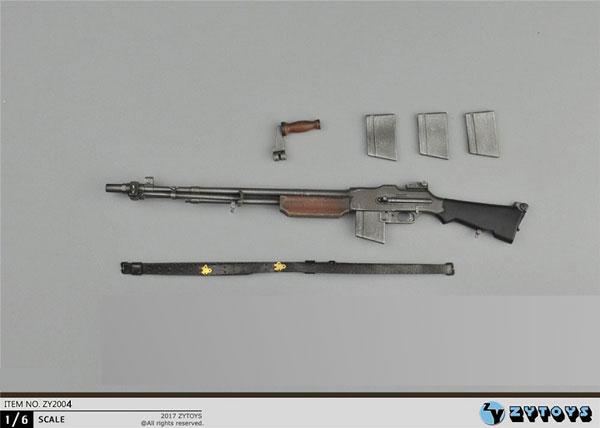 1/6 WWII ブローニングM1918自動小銃 ZY-2004