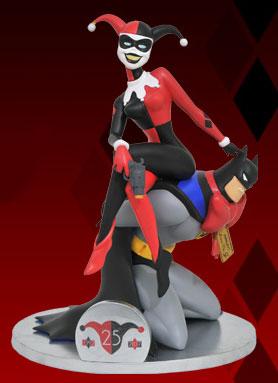 『バットマン アニメイテッド』PVCスタチュー DC ギャラリー ハーレイ・クイン(25周年アニバーサリー版)