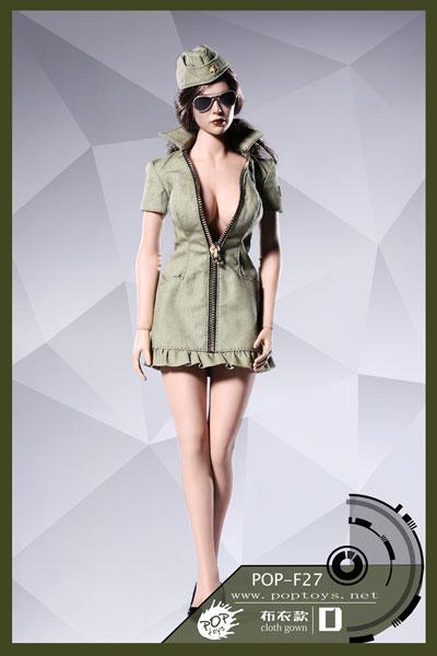 1/6 セクシー ウォー ウーマン スーツ セット クロス Ver.D (ドール用)