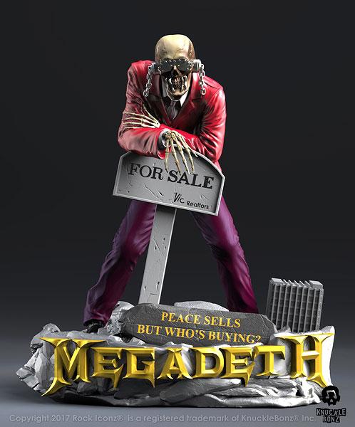 Megadeath ヴィック ラトルヘッド ピース セルズスタチュー