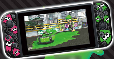 Joy-Con SILICONE COVER COLLECTION for Nintendo Switch (splatoon2)Type-B[キーズファクトリー]【送料無料】《在庫切れ》