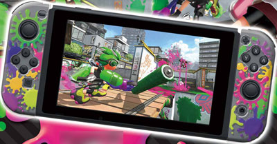Joy-Con HARD COVER COLLECTION for Nintendo Switch (splatoon2)Type-A[キーズファクトリー]《在庫切れ》