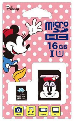 ディズニーmicroSDカード アダプターセット 16GB ミニー (Switch用)[サイバーガジェット]《取り寄せ※暫定》