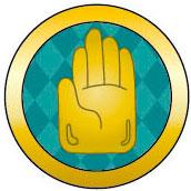 ジョジョの奇妙な冒険 第3部 アルミボタンシール 指紋認証対応 手のひらエンブレム[バンダイ]《在庫切れ》