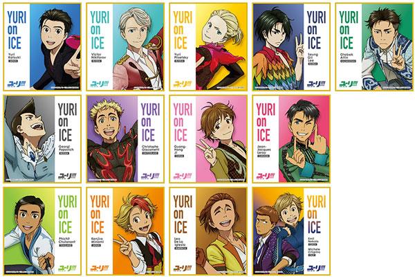 ユーリ!!! on ICE(アニメ版) ミニ色紙コレクション 13個入りBOX[ムービック]《在庫切れ》