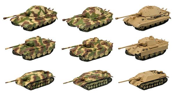 1/144 ワールドタンクミュージアムキット VOL.4 ドイツ機甲師団アルデンヌ1944 10個入りBOX (食玩)