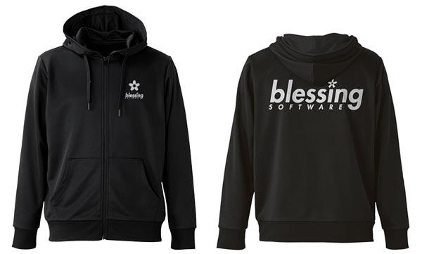 冴えない彼女の育てかた♭ blessing software ドライパーカー/BLACK-L(再販)[コスパ]《10月予約》