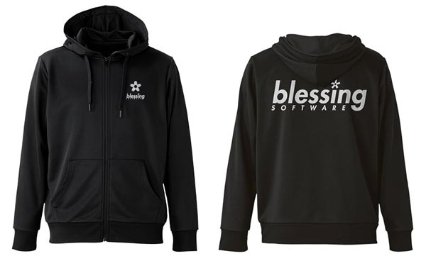 冴えない彼女の育てかた♭ blessing software ドライパーカー/BLACK-XL(再販)[コスパ]《10月予約》