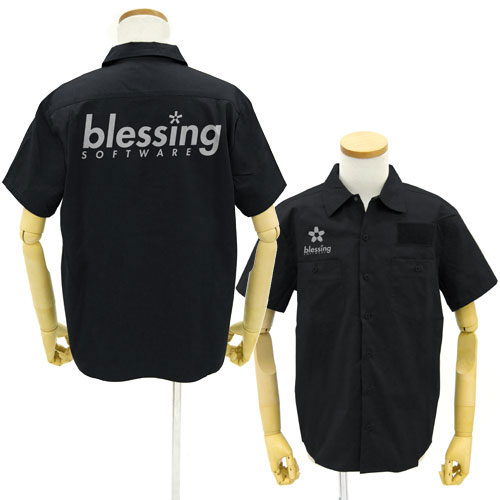 冴えない彼女の育てかた♭ blessing softwareワークシャツ/BLACK-XL(再販)[コスパ]《在庫切れ》