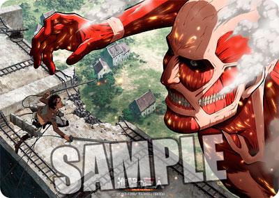 キャラクター万能ラバーマット 進撃の巨人「エレン VS 超大型巨人」[ブロッコリー]【送料無料】《在庫切れ》