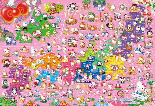 ジグソーパズル ご当地キティ日本地図 (L74-160) 150ピース[ビバリー]《在庫切れ》