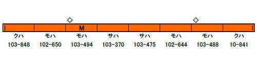 50582 完成品モデル JR103系「OSAKA POWER LOOP」8両編成セット(動力付き)(再販)[グリーンマックス]【送料無料】《10月予約》