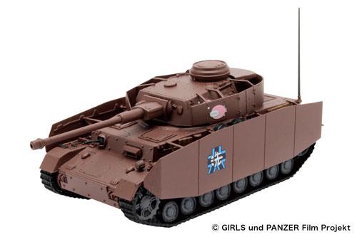 1/72 ガールズ&パンツァー 劇場版 てのひら戦車道コレクション IV号戦車H型 (D型改) あんこうチーム[プラッツ]《取り寄せ※暫定》