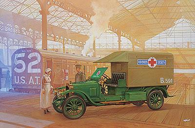 1/72 英ボックスホール・タイプD救護車・WW-1 プラモデル[ローデン]《在庫切れ》
