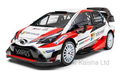 1/43 トヨタ ヤリス WRC 2017年ラリー・モンテカルロ #10 J-M. Latvala - M. Anttila[イクソモデル]《在庫切れ》