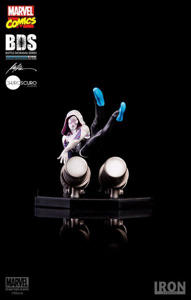 マーベルコミック/ スパイダー・グウェン 1/10 バトルジオラマシリーズ アートスケール スタチュー[アイアン・スタジオ]《在庫切れ》