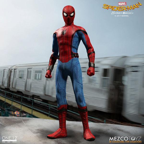 ワン12コレクティブ/ スパイダーマン ホームカミング: スパイダーマン 1/12 アクションフィギュア[メズコ]《09月仮予約》