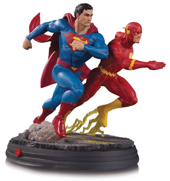 『DCコミックス』 DC スタチュー スーパーマン VS フラッシュ