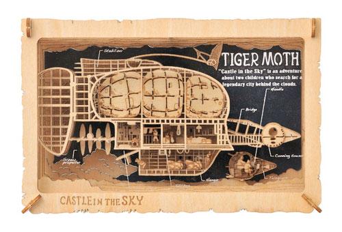 ペーパーシアター -ウッドスタイル- 天空の城ラピュタ PT-WL01 タイガーモス号[エンスカイ]【送料無料】《在庫切れ》