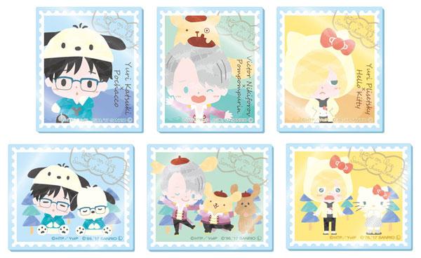ユーリ!!! on ICE × サンリオキャラクターズ トレーディング切手風アクリルバッジ 6個入りBOX[エクスレア]《在庫切れ》