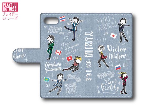 「ユーリ!!! on ICE」手帳型スマホケース P-A(iPhone6/6s/7)[プレイフルマインドカンパニー]《在庫切れ》