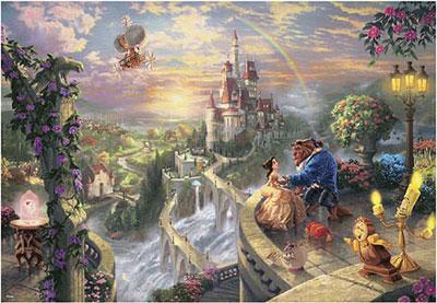 ジグソーパズル 美女と野獣 Beauty and the Beast Falling in Love 1000ピース (D-1000-487)[テンヨー]《取り寄せ※暫定》