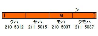 30684 完成品 JR211系5000番台 4両編成セット(動力付き)(再販)[グリーンマックス]【送料無料】《10月予約》