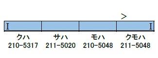 30685 完成品 JR211系5000番台 4両編成セット(動力無し)(再販)[グリーンマックス]【送料無料】《10月予約》