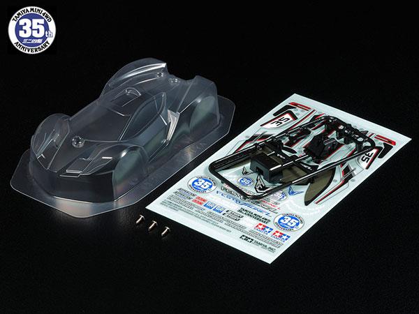 ミニ四駆特別限定 ミニ四駆35周年記念 フェスタジョーヌL クリヤーボディセット[タミヤ]《発売済・在庫品》