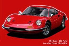 1/24 リアルスポーツカーシリーズNo.116 フェラーリ ディノ246GT 前期型/後期型 プラモデル(再販)[フジミ模型]《取り寄せ※暫定》