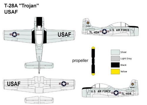 1/144 N.A. T-28A トロージャン 米空軍 プラモデル[MINIWING]《取り寄せ※暫定》
