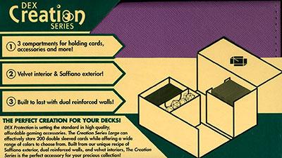 カードアクセサリコレクション DEX Deckbox L パープル(再販)[ホビーベース]《在庫切れ》