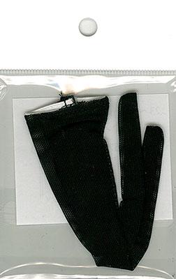 23~25cmドール(細い足用) ネットストッキンク(黒) (ドール用衣装)[キューティーズ]《在庫切れ》