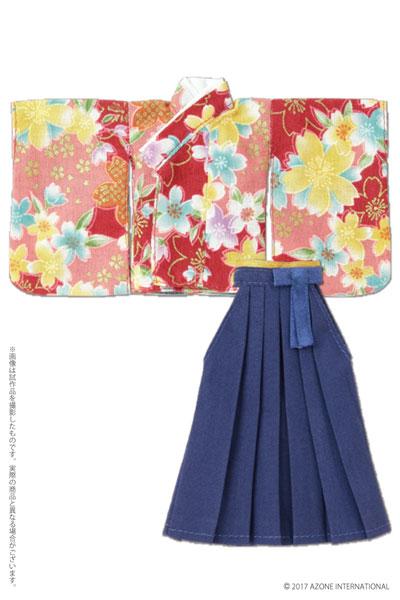 ピコニーモ用ウェア 1/12 桜袴セット 緋色 (ドール用)[アゾン]《在庫切れ》
