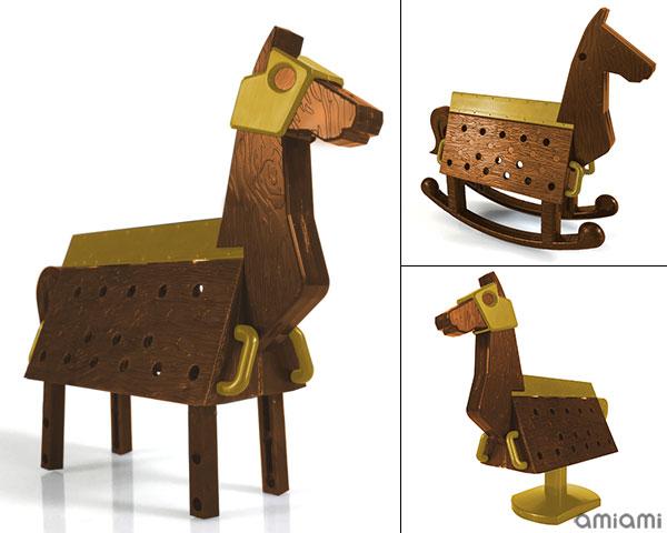 Love Toys Vol.3 三角木馬 Wooden horse 1/12 未塗装 未組み立てキット[スカイチューブ]《在庫切れ》