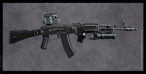 1/6 エリートファイヤーアームズシリーズ 2 VDV アサルト ライフル AK74M セット ブラック
