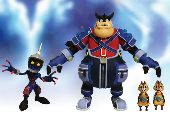 キングダムハーツII アクションフィギュア キングダムハーツセレクトシリーズ2 チップ&デール&ピート&ソルジャー