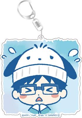 ユーリ!!! on ICE×サンリオキャラクターズ デカキーホルダー 勝生勇利 スタンプver. E[コンテンツシード]《発売済・在庫品》