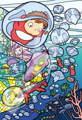 アートクリスタルジグソー 崖の上のポニョ 冒険のはじまり 126ピース(126-AC69)[エンスカイ]《発売済・在庫品》