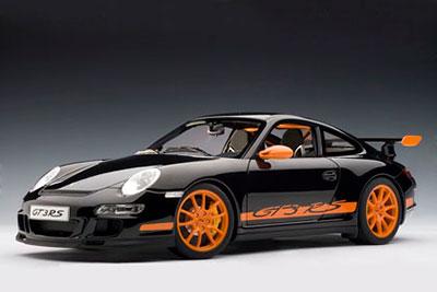 1/12 ダイキャスト・モデルカー シグネチャーシリーズ ポルシェ 911(997) GT3 RS(ブラック/オレンジストライプ)[オートアート]《在庫切れ》