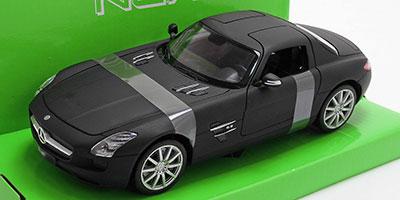 1/24 メルセデスベンツ SLS AMG (マットブラック)[WELLY]《取り寄せ※暫定》