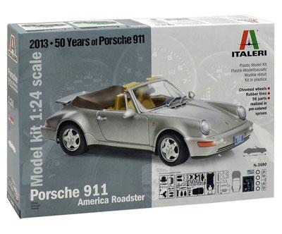 1/24 ポルシェ 911 アメリカン ロードスター プラモデル(再販)[イタレリ]《在庫切れ》